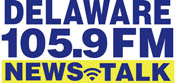 The Delaware 105.9 FM News Talk Logo