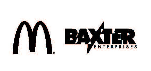 Logo's for McDonald's and Baxter Enterprises