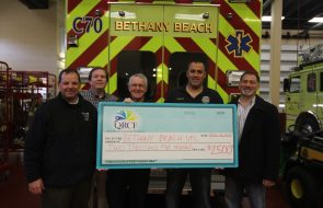 A giant check made out to Bethany Beach VFC for $2500