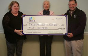 A check of $500 for Delmarvalous Quilters