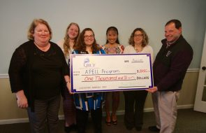 A check of $1000 for the Apell Program