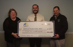 A grant of $2500 for Selbyville Middle School Band