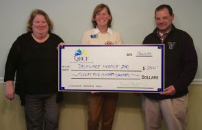A check for $2500 to be used by Delaware Hospice Inc