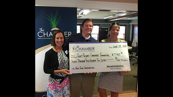 $7,310 Check from Chamber Gifts to QRCF 2015 Delaware Charities