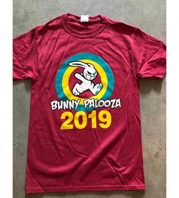 2019 Bunny Palooza red event shirts